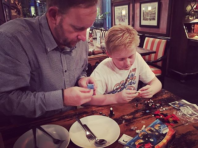 Out for dinner and  Lego........ that's seems to be our normal ️