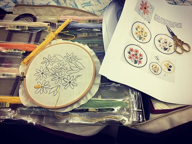My inner 'granny' has returned.  It's been nearly 10 years since I have had the embroidery needle in my hand.