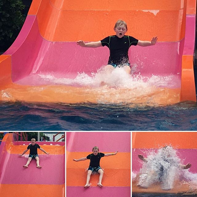 Water slide fun!