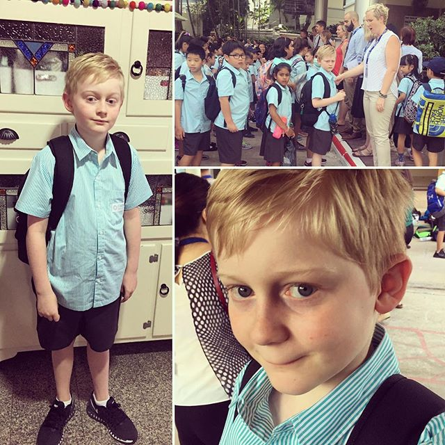 Ben's first day of year 5 in Bangkok. It's a big day.......a new school. He handled it like a champion. I on the other hand am a bundle of nerves. Here's to a happy year!!