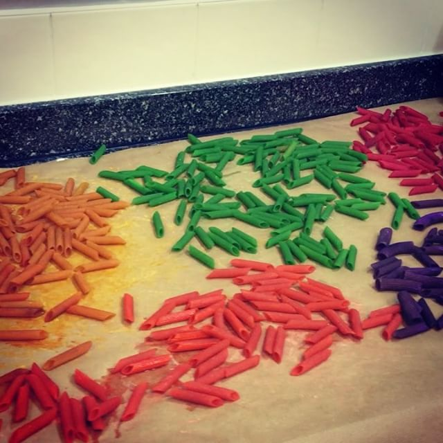 And I thought my days of colouring pasta were done and dusted