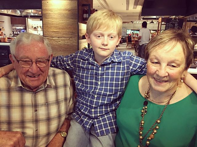 Grandad, Ben and his Nanny Jude xx