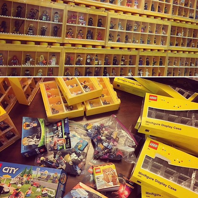 NERD ALERT! My new LEGO minifigure boxes have now all arrived in Bangkok (thanks to family and friends bringing them over in their luggage!!) It's time for my minifigure wall to grow. Eeeeeee I'm excited !!!