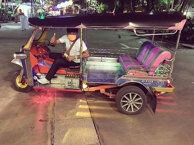 The crazy Tuk Tuk driver!