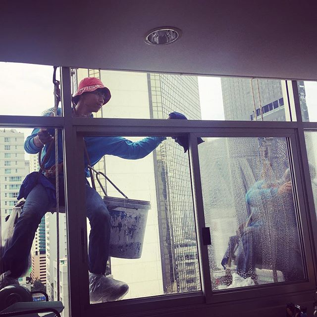 Window washing day!