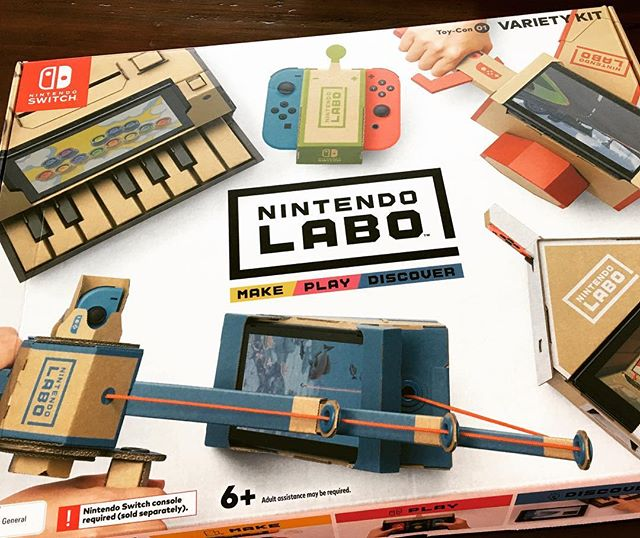I'm really looking forward to doing this with Ben.....if he will let me! Very clever use of the SWITCH. It's killing me that I have to wait for Ben!!! #nintendolabo