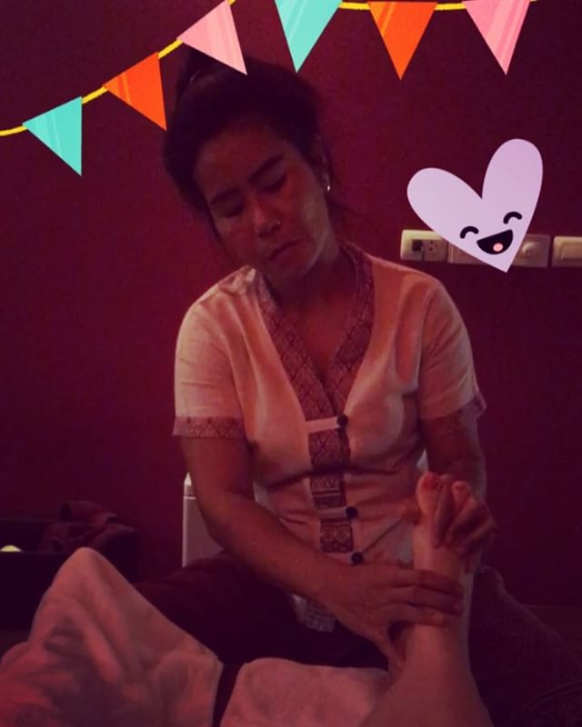 Best way to finish up my birthday - a massage with my favorite therapist Wan️️️ Thank you everyone for the lovely birthday wishes today xxx