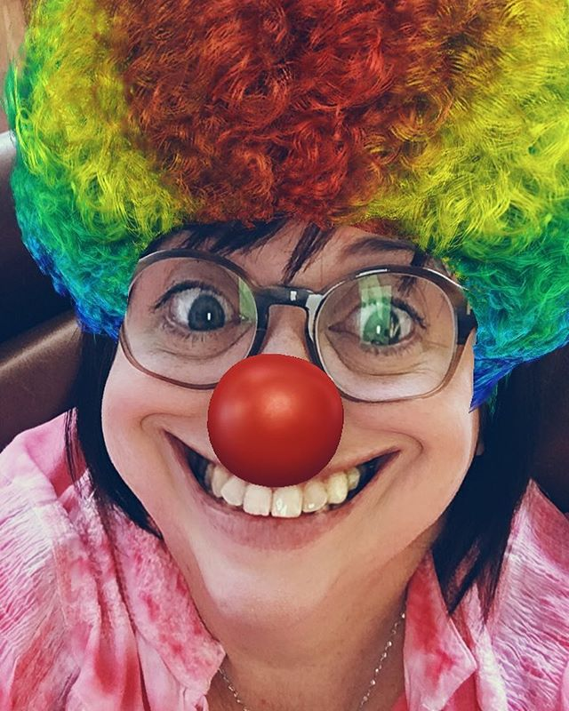 I hope this brings a smile to your face! I make an awesome clown!!!