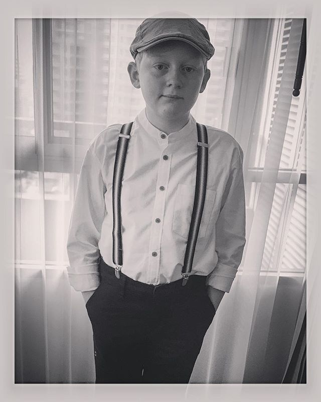 Dressed up for WWII Evacuation Day at school