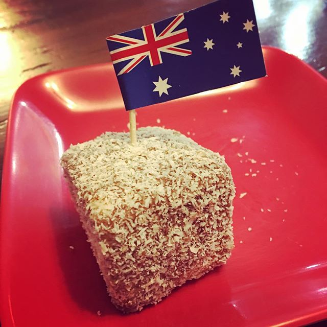 We found a little piece of home for Australia Day. We ordered some Lamingtons from another Aussie lady who is a great baker. Unfortunately Ben and I have come down with a dreaded head cold. Andrew is enjoying the Lamingtons though 🤣🤣