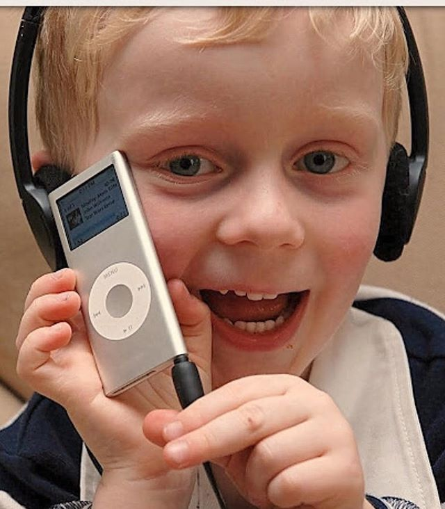 Oh my! Looking back through the blog.  This kid is nearly 12 now! This photo is cuteness overload. He stole Grandmas iPod 🤣