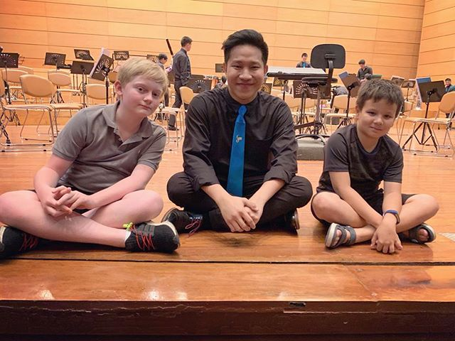 A great concert last night 'Symphony Strikes Back'. Wan (their teacher) is such a inspiration for the boys.