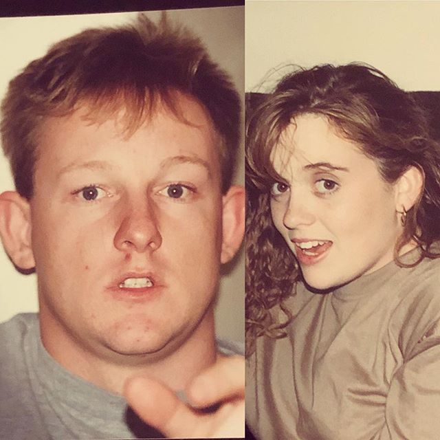 My mum was decluttering today and sent me these pictures. We are so young. I'm thinking 1994? Loved this guy to bits even then 25 years ago xo