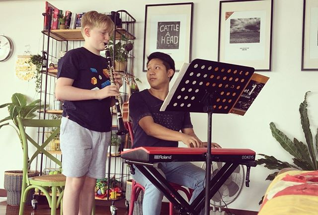 Mini concert for Grandma and Grandad. Thank you Ben and Wan.