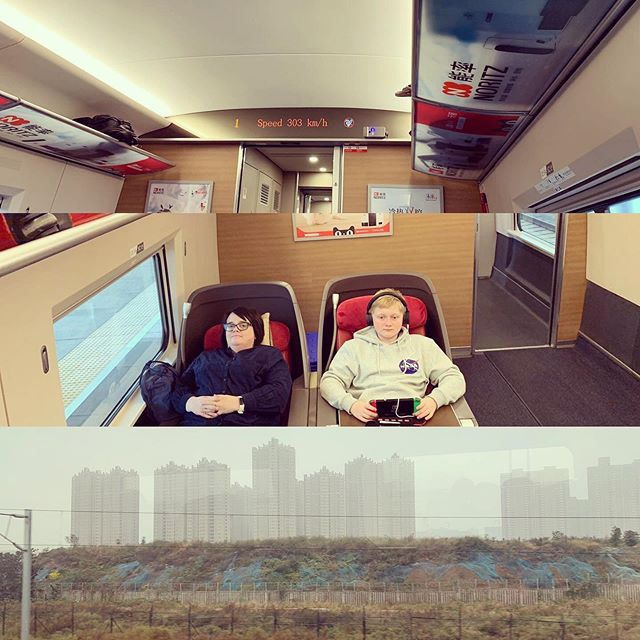 From Xian to Beijing on the bullet train today. Just loving the business class seats. Please comment if you know what any of the snacks we were given in our snack box are. It's a surprise when we open them to try.