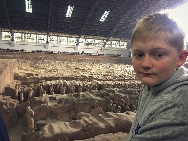 Absolutely amazing to see the Terracotta Warriors today.....over 2000 years old and discovered in 1974 by a farmer.  There are so many new discovery sites (over 600) in this area of China. What an exciting time. I wish I was an archeologist.